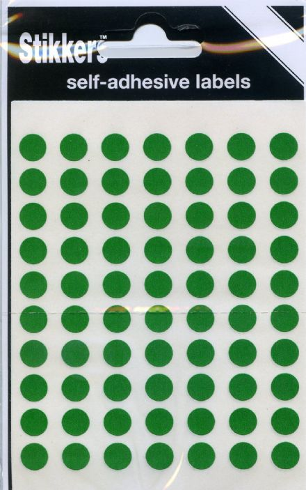 490 x  Map Stickers 8mm - GREEN